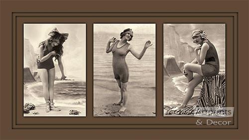 At the Beach - Art Print