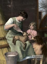 The New Shepherd by Arthur J. Elsley - Art Print