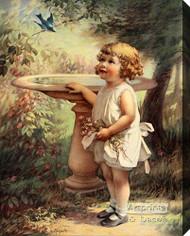 My Bluebird by Zula Kenyon - Stretched Canvas Art Print