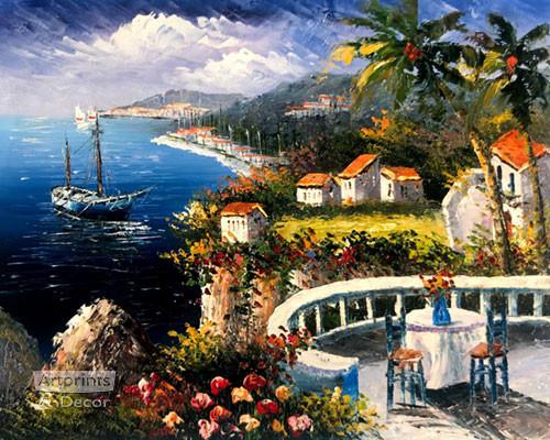 Mediterranean Terrace - Art Print