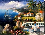 Mediterranean Terrace - Canvas Art Print