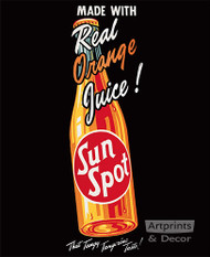Sun Spot (Real Orange Juice) - Art Print