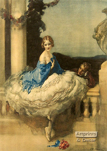 On the Balcony by Walter Ernest Webster - Art Print