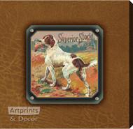Superior Stock Bird Dog - Stretched Canvas Art Print
