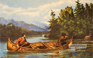 American Hunting Scenes A Good Chance - Art Print