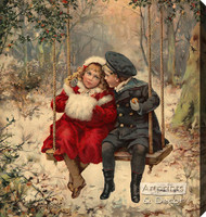 Winter Love - Stretched Canvas Art Print