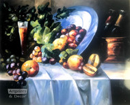 Fruit & Wine (Still Life) - Art Print