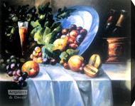 Fruit & Wine (Still Life) - Stretched Canvas Art Print