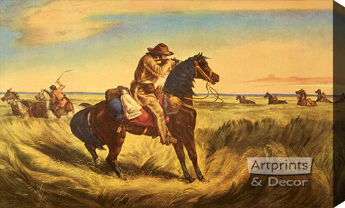 A check - Keep your distance by Currier & Ives - Stretched Canvas Art Print