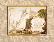 Bermuda Map - Art Print