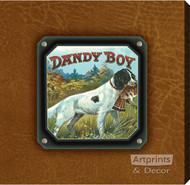 Dandy Boy Bird Dog - Stretched Canvas Art Print