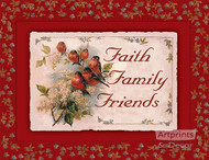 Faith Family Friends - Art Print