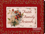 Faith Family Friends - Stretched Canvas Art Print