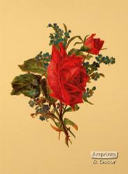Victorian Floral III - Art Print