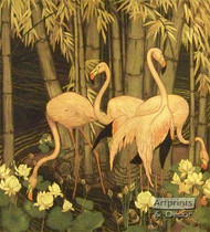 Flamingos in Paradise by Jessie A. Botke - Art Print