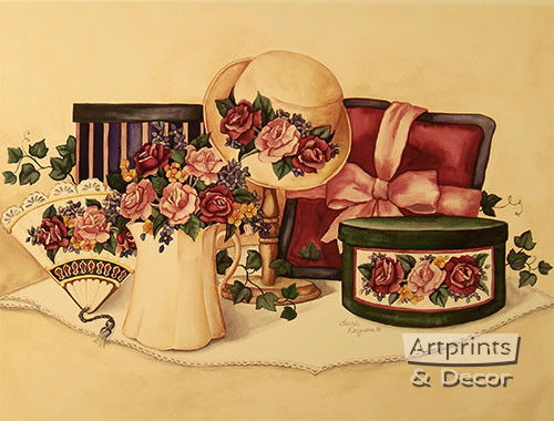 Victorian Elegance by Laurie Korsgaden - Art Print