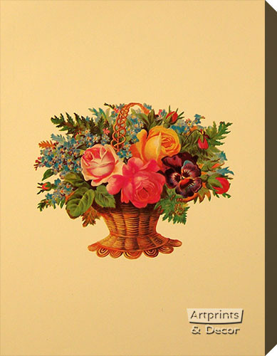Victorian Floral XI - Stretched Canvas Art Print