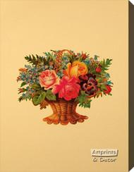 Victorian Floral XI - Stretched Canvas Art Print