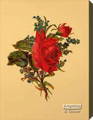 Victorian Floral III - Stretched Canvas Art Print