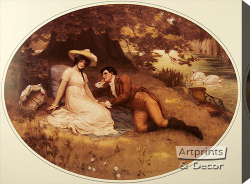 The Proposal by George S. Knowles - Stretched Canvas Art Print