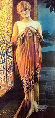 Deco Lady by Gene Pressler - Art Print