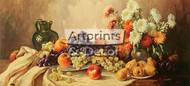Fruits - Still Life by E Krugen - Stretched Canvas Art Print