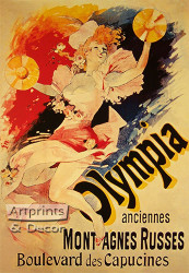 Olympia by Cheret - Art Print