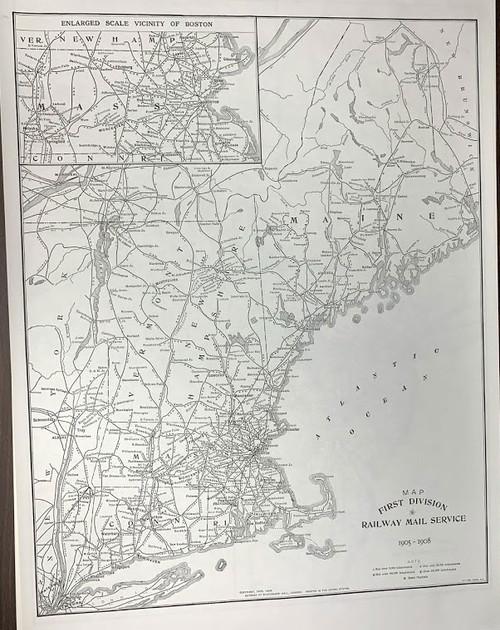 US Railroads Reproduction Maps 1905-1908
