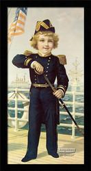 The Little Admiral - Framed Art Print*