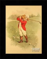 A Little Golfer - Framed Art Print*