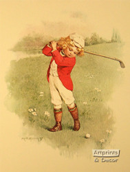 A Little Golfer by Maud Humphrey - Art Print
