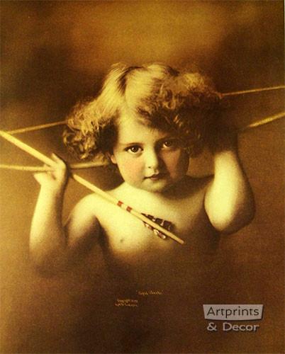 Cupid Awake by M. B. Parkinson - Framed Art Print