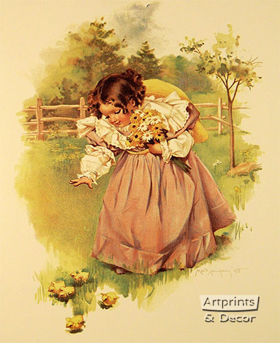 First Day in the Country by Maud Humphrey - Art Print