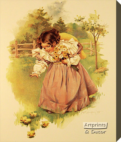 First Day in the Country by Maud Humphrey - Stretched Canvas Art Print