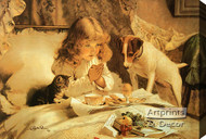 Suspense by Charles Burton Barber - Stretched Canvas Art Print