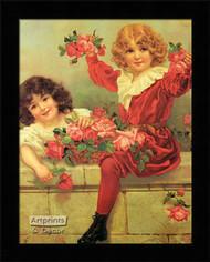 A Basket of Roses - Framed Art Print*