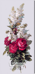 Roses and Lilacs by Paul de Longpre - Stretched Canvas Art Print
