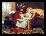 The Rivals by Charles Burton Barber - Framed Art Print*