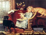 The Rivals by Charles Burton Barber - Art Print