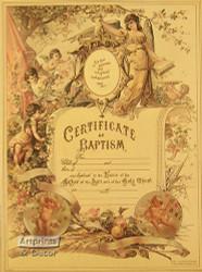 Certificate of Baptism - Art Print