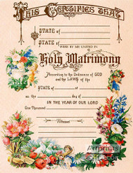 Marriage Certificate - Art Print