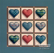 Hearts in Squares - Art Print