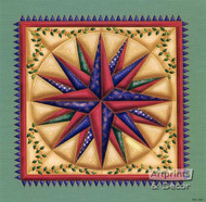 Star in Squares - Art Print