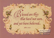 Blessed are they that have not seen - Art Print