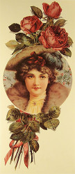Lady with Roses - Art Print