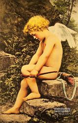 Cupid Breaking Bow - Art Print