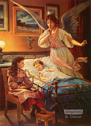 Guardian Angel at Bedtime - Art Print