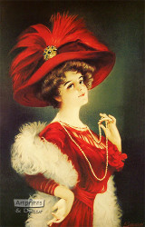 Woman in Red by B. Zickendraht - Art Print