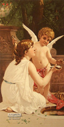Innocence & Cupid by A. Delobbe - Art Print