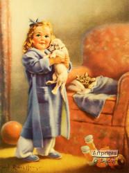 Sleepy Time Pals by Mabel Rollins Harris - Art Print